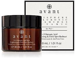 Düfte, Parfümerie und Kosmetik 2in1 Gesichtscreme zur Behandlung dunkler Flecken auf der Haut mit Glutaminsäure - Avant 2-1 Glutamic Skin Lightening & Dark Spot Reducer