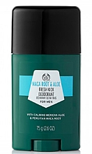 Düfte, Parfümerie und Kosmetik Deostick - The Body Shop Maca Root & Aloe Fresh Kick Deodorant