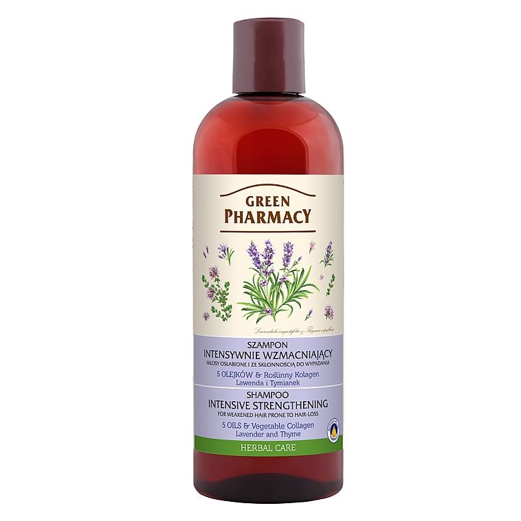 Stärkendes Shampoo mit Lavendelöl und Thymianextrakt für schwaches Haar - Green Pharmacy