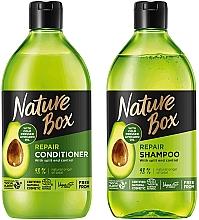 Düfte, Parfümerie und Kosmetik Haarpflegeset - Nature Box Avocado Oil (Shampoo 385ml + Haarspülung 385ml)