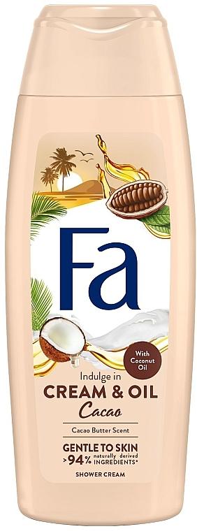 Creme-Duschgel mit Kokosnuss-Öl & Kakaobutter-Duft - Fa Cacao Butter And Coco Oil