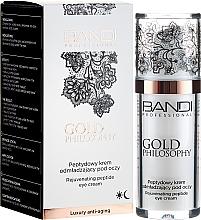 Düfte, Parfümerie und Kosmetik Verjüngende Augenkonturcreme mit Peptiden - Bandi Professional Gold Philosophy Rejuvenating Peptide Eye Cream