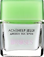 Düfte, Parfümerie und Kosmetik Feuchtigkeitsspendende Tagesgel-Creme mit Teebaumöl, Aloe Vera und Rosenwasser für gemischte und zu Akne neigende Gesichtshaut - Nature of Agiva Roses Acnehelp Jelly Daily Cream
