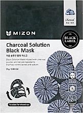 Düfte, Parfümerie und Kosmetik Reinigende und ausgleichende Tuchmaske mit Holzkohlepulver - Mizon Charcoal Solution Black Mask