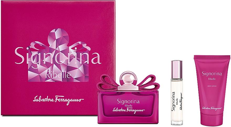 Salvatore Ferragamo Signorina Ribelle - Duftset (Eau de Parfum 100ml + Eau de Parfum 10ml + Körperlotion 50ml)