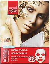Düfte, Parfümerie und Kosmetik Verjüngende Tuchmaske für das Gesicht mit Schneckenextrakt - Czyste Piekno Bosca Snail Face Mask