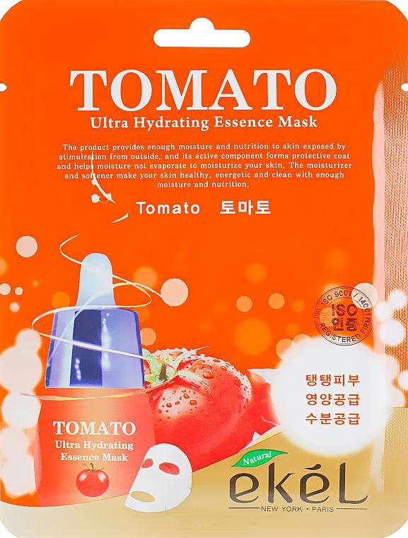 Feuchtigkeitsspendende Tuchmaske für das Gesicht mit Tomatenextrakt - Ekel Tomato Ultra Hydrating Mask