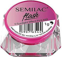 Düfte, Parfümerie und Kosmetik Nagelpuder - Semilac Flash Sunlight Effect