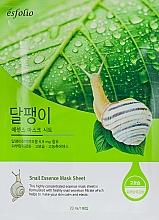 Düfte, Parfümerie und Kosmetik Regenerierende und beruhigende Tuchmaske für das Gesicht mit Schneckenfiltrat - Esfolio Snail Essence Mask Sheet