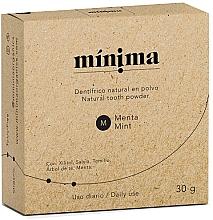 Düfte, Parfümerie und Kosmetik Natürliches Zahnpulver mit Minze - Minima Organics Natural Tooth Powder