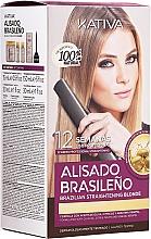 Düfte, Parfümerie und Kosmetik Haarpflegeset - Kativa Alisado Brasileno Straighten Blonde (Shampoo 15ml + Haarmaske 150ml + Shampoo 30ml + Conditioner 30ml)