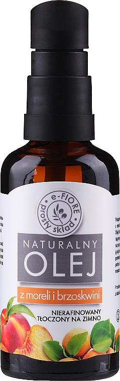 Natürliches unraffiniertes Pfirsich- und Aprikosenkernöl - E-Fiore Natural Oil (mit Pumpenspender)