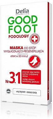 Glättende und regenerierende Fußmaske - Delia Cosmetics Good Foot Podology Nr 3.1