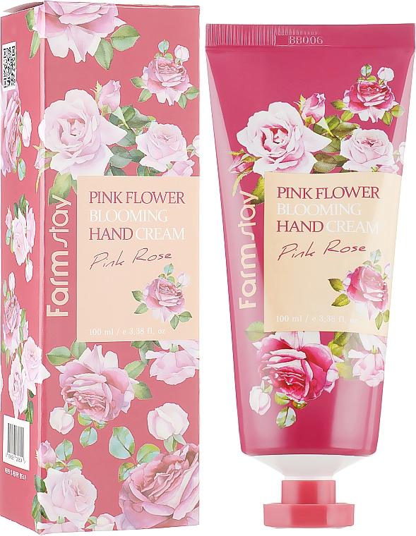 Handcreme mit Rosenextrakt - FarmStay Pink Flower Blooming Hand Cream Pink Rose