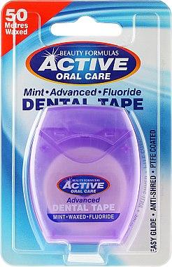 Gewachste Zahnseide mit Minzgeschmack - Beauty Formulas Active Oral Care Advanced Mint Waxed Fluor 50 m