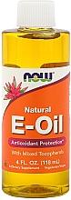 Düfte, Parfümerie und Kosmetik Nahrungsergänzungsmittel Vitamin E-Öl mit gemischten Tocopherolen - Now Foods Natural E-Oil With Mixed Tocopherols