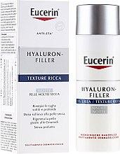 Düfte, Parfümerie und Kosmetik Feuchtigkeitsspendende Anti-Falten Nachtcreme mit 5% Harnstoff und Hyaluronsäure - Eucerin Hyal-Urea Night Creme