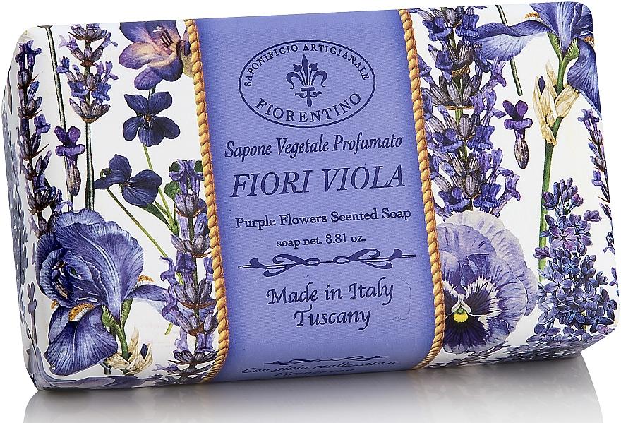 Naturseife Purple Flowers - Saponificio Artigianale Fiorentino Purple Flowers Scented Soap Armonia Collection