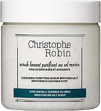 Düfte, Parfümerie und Kosmetik Peeling für Kopfhaut und Haare mit Meersalz - Christophe Robin Cleansing Purifying Scrub With Sea Salt