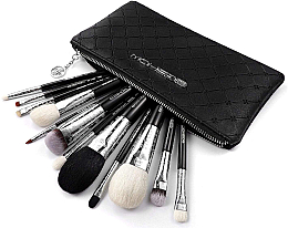 Düfte, Parfümerie und Kosmetik Make-up Pinselset 12-tlg. - Eigshow Luxe Series Classic Makeup Brush Kit Bright Silver