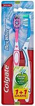 Düfte, Parfümerie und Kosmetik Zahnbürste mittel Max White rosa, blau 2 St. - Colgate Max White Medium Polishing Star