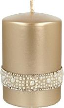Düfte, Parfümerie und Kosmetik Dekorative Kerze Crystal Opal Gold - Artman Christmas Candle Crystal Opal Ø7xH10cm