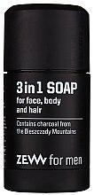 Düfte, Parfümerie und Kosmetik 3in1 Naturseife für Gesicht, Körper und Haar - Zew For Men 3 in 1 Soap For Face Body And Hair