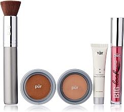 Düfte, Parfümerie und Kosmetik Make-up Set - Pur Minerals Best Sellers Starter Kit Blush Medium (Gesichtsprimer 10ml + Foundation 4.3g + Bronzier Puder 3.4g + Mascara 5g + Make-up Pinsel)