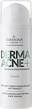 Düfte, Parfümerie und Kosmetik Feuchtigkeitsspendende und mattierende Gesichtscreme mit AHA-Säure - Farmona Professional Dermaacne+ Moisturising Mattifying Face Cream