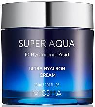Düfte, Parfümerie und Kosmetik Feuchtigkeitsspendende Gesichtscreme mit Hyaluronsäure - Missha Super Aqua Ultra Hyalron Cream