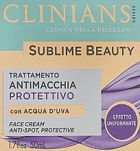 Düfte, Parfümerie und Kosmetik Gesichtscreme mit Traubenwasser - Clinians Sublime Beauty Antimacchia Protettivo Face Cream