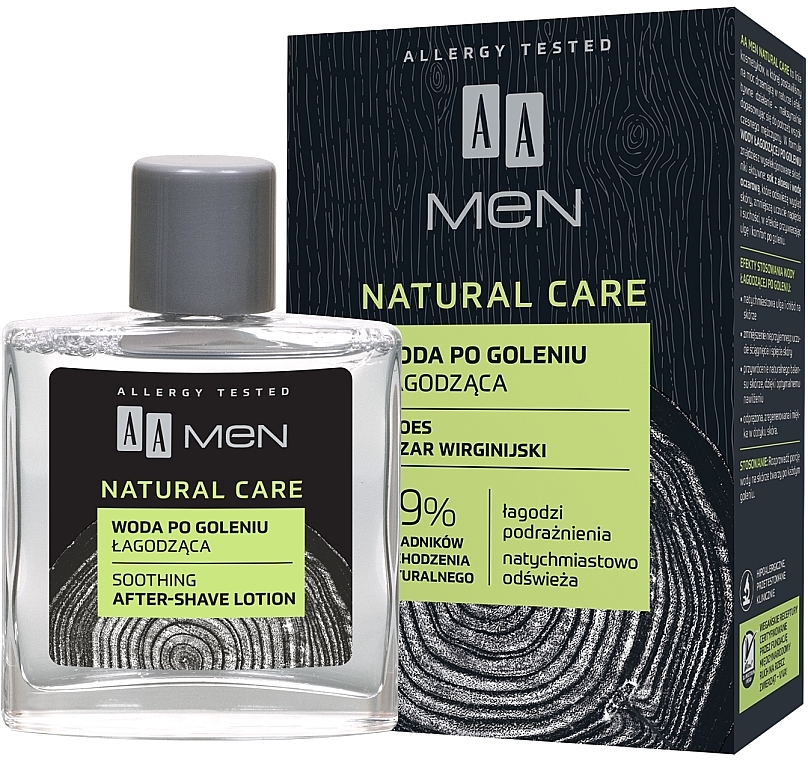 After Shave Lotion mit Aloe Vera - AA Men Natural Care Sooting After-Shave Lotion