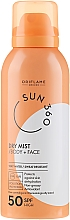 Düfte, Parfümerie und Kosmetik Sonnenschutzspray für Gesicht und Körper SPF 50 - Oriflame Sun 360 Dry Mist SPF 50