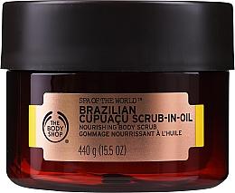 Düfte, Parfümerie und Kosmetik Pflegendes Körperpeeling mit brasilianischem Cupuaçu - The Body Shop Brazilian Cupuacu Scrub-in-oil