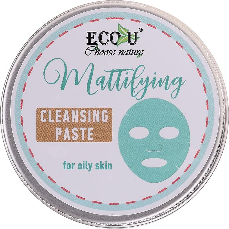 Mattierende Gesichtsreinigungspaste für fettige Haut - ECO U Mattifying Cleansing Paste For Oily Skin — Bild N1