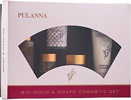 Düfte, Parfümerie und Kosmetik Gesichtspflegeset - Pulanna Bio-gold & Grape (Tages- und Nachtcreme für das Gesicht 2x58g + Augencreme 21g + Gesichtstonikum 90g + Gesichtsmilch 90g)