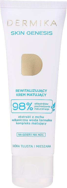 Revitalisierende und mattierende Gesichtscreme für fettige und Mischhaut - Dermika Skin Genesis