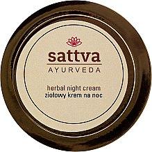 Düfte, Parfümerie und Kosmetik Regenerierende Nachtcreme mit Heilkräutern - Sattva Ayurveda Herbal Night Cream
