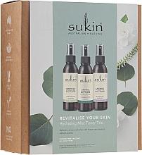 Düfte, Parfümerie und Kosmetik Gesichtspflegeset - Sukin Revitalise Your Skin Hydrating Mist Toner Trio (Gesichtstonikum 3x 125ml)