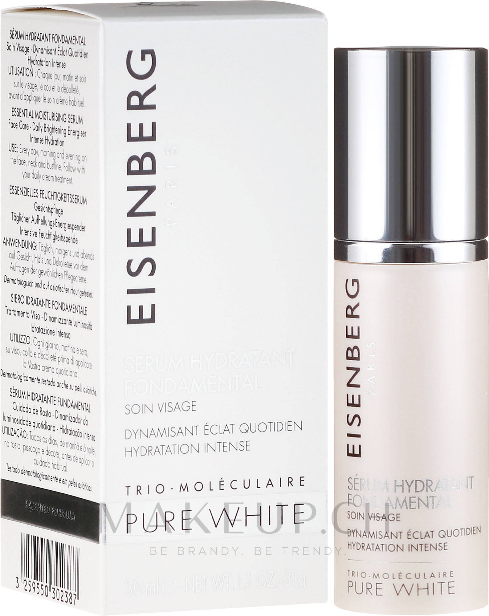 Feuchtigkeitsspendendes Gesichtsserum mit Hyaluronsäure - Eisenberg Pure White Essential Moisturising Serum — Bild 30 ml