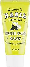 Düfte, Parfümerie und Kosmetik Feuchtigkeitsspendende Nachtmaske für das Gesicht mit Basilikum- und Baobab-Extrakt - A'pieu Fresh Mate