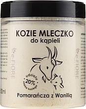 Düfte, Parfümerie und Kosmetik Natürliches Ziegenmilchbad Orange & Vanilla - E-Fiore Orange And Vanilla Natural Goat's Bath Milk
