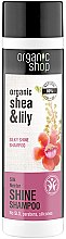 Düfte, Parfümerie und Kosmetik Glanzgebendes Shampoo mit Bio Sheabutter & Seerosenextrakt - Organic Shop Organic Shea and Silk Shine Shampoo