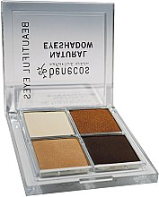 Düfte, Parfümerie und Kosmetik Lidschatten - Benecos Natural Quattro Eyeshadow