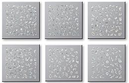 Düfte, Parfümerie und Kosmetik Set Dekorative Nagelsticker 6 St. 42744 - Top Choice Nail Decorations Stickers Set