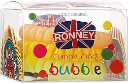 Düfte, Parfümerie und Kosmetik Spiral-Haargummis hellgrün, orange, gelb 3 St.  - Ronney Professional Funny Ring Bubble