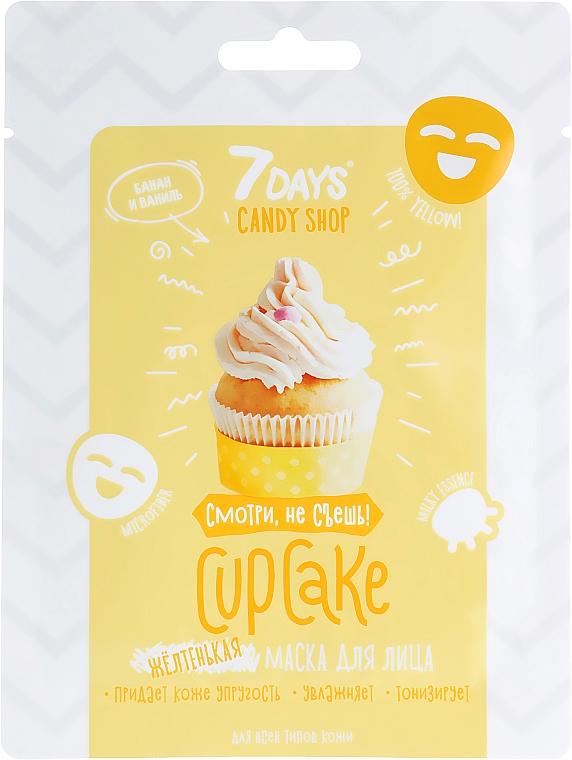 Gesichtsmaske Cupcake mit Banane und Vanille - 7 Days Candy Shop