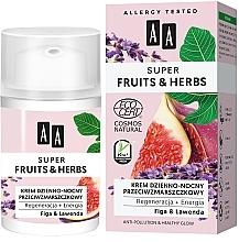 Düfte, Parfümerie und Kosmetik Regenerierende und energetisierende Gesichtscreme für Tag und Nacht mit Feige und Lavendel - AA Super Fruits & Herbs