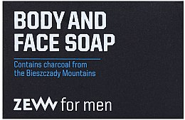 Düfte, Parfümerie und Kosmetik Gesichts- und Körperseife mit Aktivkohle - Zew For Men Body And Face Soap