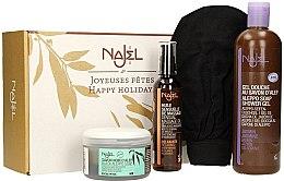 Düfte, Parfümerie und Kosmetik Körperpflegeset - Najel (Seife 200ml + Massageöl 125ml + Duschgel 500ml + Handschuh)